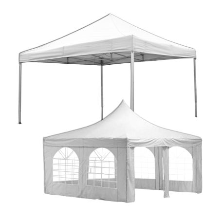 Pavillion verschiedene Größen mit Seitenwänden (Schnelle Montage durch Klappsystem)